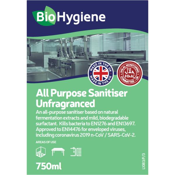 Picture of BioHygiene All Purpose Sanitiser Unfrangranced 750ml