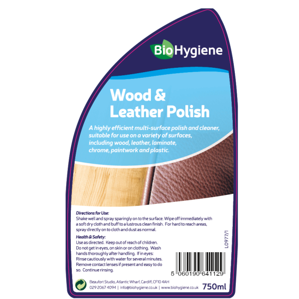 Picture of BioHygiene Wood & Leather Polish 750ml