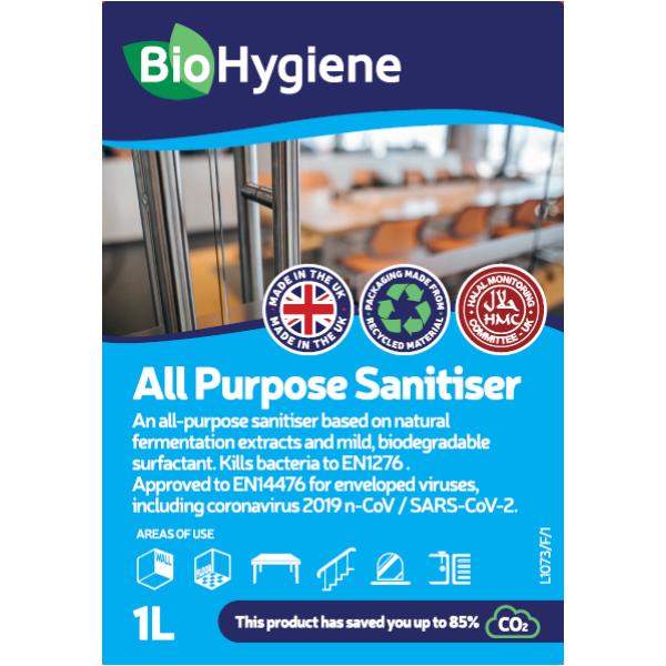 Picture of BioHygiene All Purpose Sanitiser Fragranced 1L conc (Optic bottle)