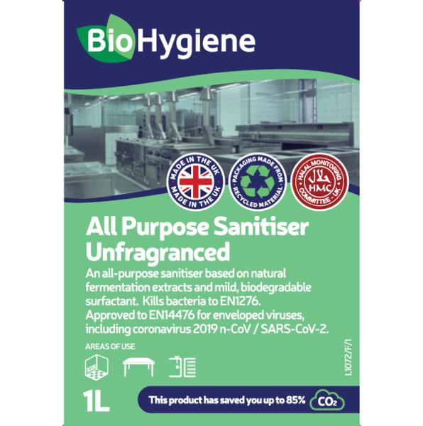 Picture of BioHygiene All Purpose Sanitiser UNFRAGRANCED  1L CONC