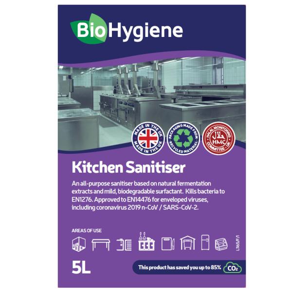 Picture of BioHygiene Kitchen Sanitiser Conc 5L
